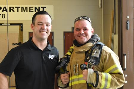 Spring Firefighter Returns After Severe Back Injury
