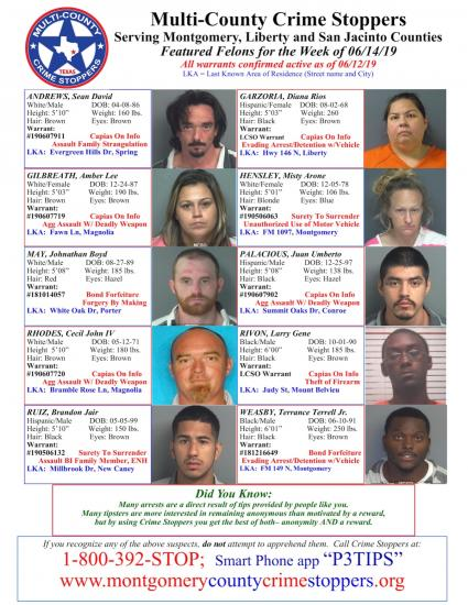 Featured Felons - 6/14/19