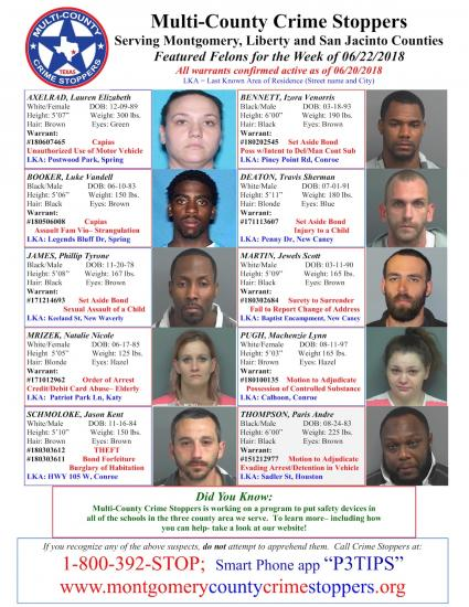 Featured Felons 6/22/18