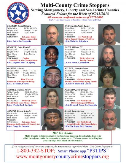 Featured Felons 7/13/18